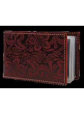 Футляр для кредитных карт и визиток кожаный ВМ-Ф аляска красный Person