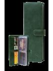 Большая визитница С-ВМ-6 друид зеленый Флауэрс