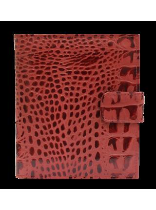 Визитница женская натуральная кожа кайман красный ВС-1 Person