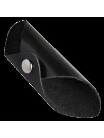 Чехол для наушников кожаный черный