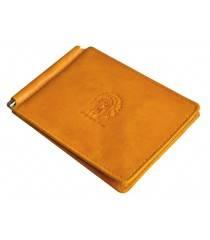 Зажим для денег мужской кожаный ОК-3-А табачно-желтый Apache