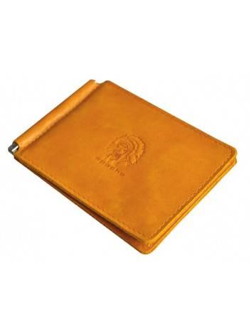 Зажим для денег ОК-3-А табачно-желтый Apache
