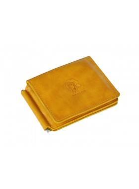 Зажим для денег и карт ОК-4-А табачно-желтый Apache