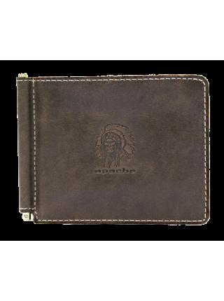 Зажим для денег Apache ОК-А дымчато-коричневый