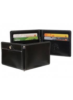Зажим для денег с защитой от сканирования ОК-S черный Apache RFID