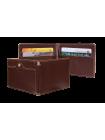 Зажим для денег и карт из кожи с защитой от считывания RFID ОК-S коричневый Apache