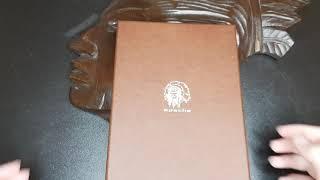 Обложка для паспорта из натуральной кожи ОП-2-А дымчато-черная