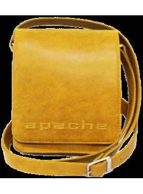 Сумка планшет из натуральной кожи табачно-желтая СМ-3013-А Apache