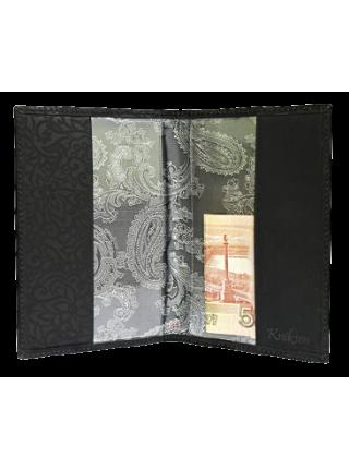 Обложка для паспорта ОП-16 black stone Kniksen