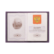 Обложка для паспорта С-ОП-1 друид фиолетовый Флауэрс