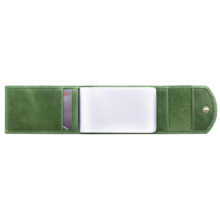 Чехол визитница С-ВМ-3 друид зеленый из кожи Флауэрс