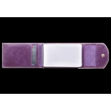 Чехол визитница С-ВМ-3 друид фиолетовый из кожи Флауэрс