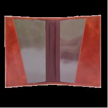 Обложка для паспорта ОПВ коралл красный Kniksen