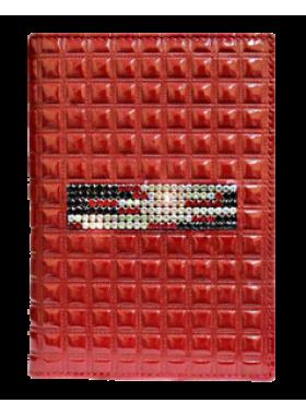 Модный бумажник водителя БС-12 red mesh Kniksen