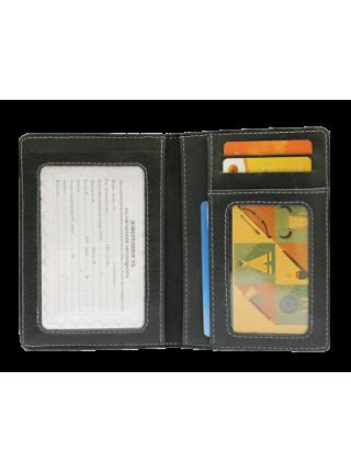 Бумажник водителя ОВ-А дымчато-черный Apache